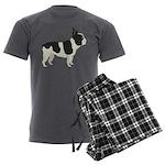 French Bulldog Men's Charcoal Pajamas