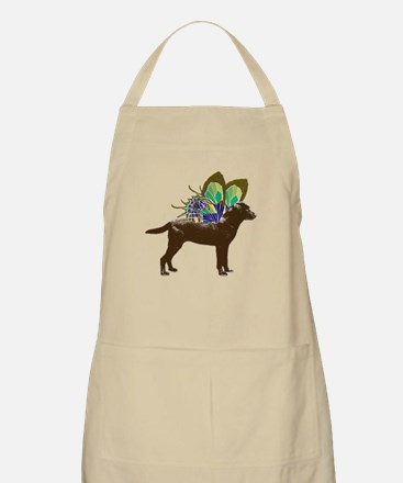 Butterfly Labrador, Chocolate BBQ Apron