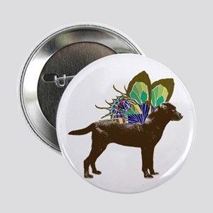 "Butterfly Labrador, Chocolate 2.25"" Button"
