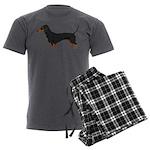 Dachshund Men's Charcoal Pajamas