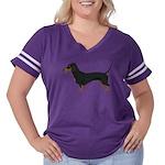 Dachshund Women's Plus Size Football T-Shirt