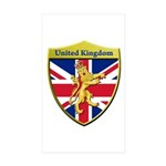 United Kingdom Metallic Shield Sticker