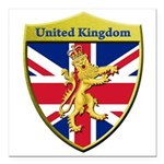 United Kingdom Metallic Shield Square Car Magnet 3