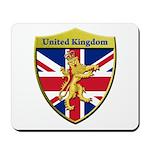 United Kingdom Metallic Shield Mousepad