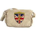 United Kingdom Metallic Shield Messenger Bag