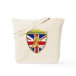 United Kingdom Metallic Shield Tote Bag