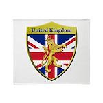 United Kingdom Metallic Shield Throw Blanket