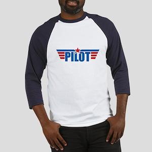 Pilot Aviation Wings Baseball Jersey