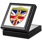 United Kingdom Metallic Shield Keepsake Box