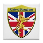 United Kingdom Metallic Shield Tile Coaster