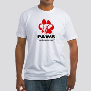 Paws Logo - Fitted T-Shirt