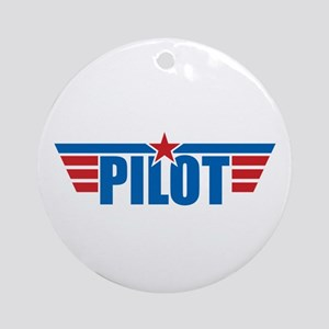 Pilot Aviation Wings Ornament (Round)