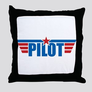 Pilot Aviation Wings Throw Pillow