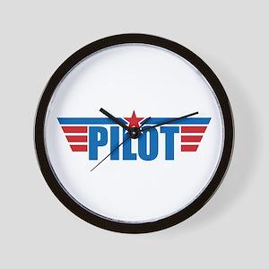 Pilot Aviation Wings Wall Clock