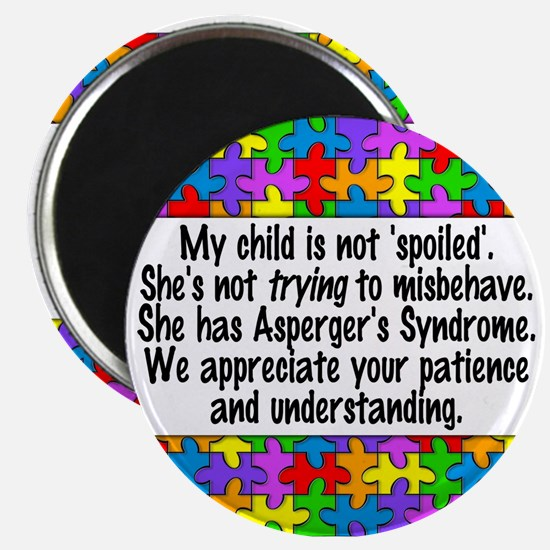 She Has Asperger's Magnet