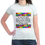 He Has Asperger's Jr. Ringer T-Shirt