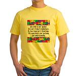 He Has Asperger's Yellow T-Shirt