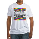 He Has Asperger's Fitted T-Shirt