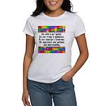 He Has Asperger's Women's T-Shirt