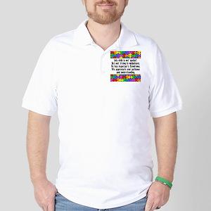 He Has Asperger's Golf Shirt