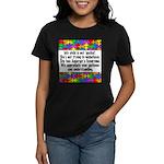 He Has Asperger's Women's Dark T-Shirt