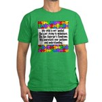 He Has Asperger's Men's Fitted T-Shirt (dark)