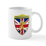 United Kingdom Metallic Shield Mugs