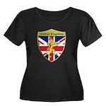 United Kingdom Metallic Shield Plus Size T-Shirt