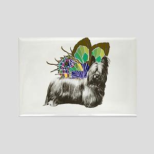 Butterfly Skye Terrier Rectangle Magnet