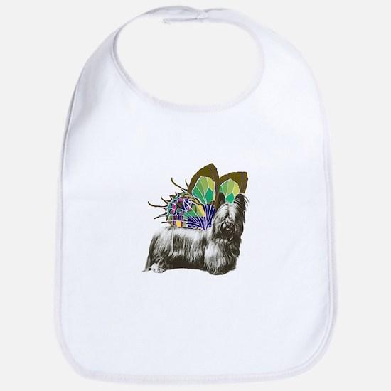 Butterfly Skye Terrier Bib