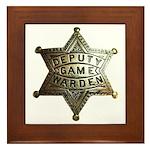 Deputy Game Warden Framed Tile