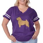 Norwich Terrier Women's Plus Size Football T-Shirt
