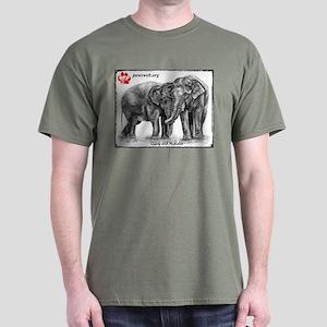 Nicholas & Gypsy Pencil Drawing Dark T-Shirt