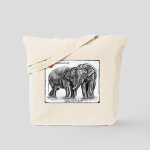 Pencil Drawing Nicholas & Gypsy Tote Bag