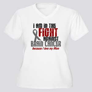 In The Fight MOM Brain Cancer Women's Plus Size V-