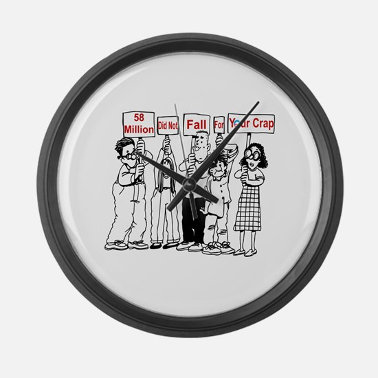 Cute Political humor Large Wall Clock