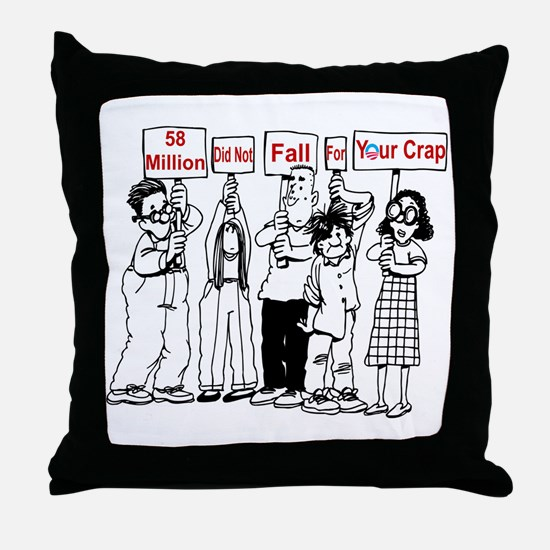 Cute Anti republican Throw Pillow