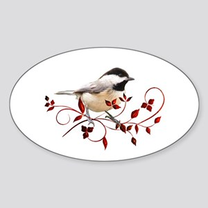 Chickadee Oval Sticker