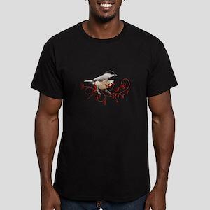 Chickadee Men's Fitted T-Shirt (dark)