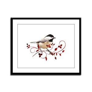 Chickadee Framed Panel Print