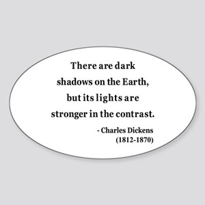 Charles Dickens 8 Oval Sticker