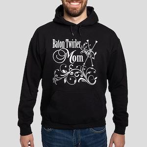 Baton Twirler Mom Hoodie (dark)