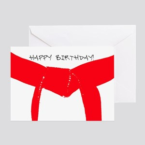Martial Arts Red Belt Birthday Cards