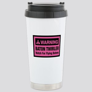 WARNING Baton Twirler Stainless Steel Travel Mug