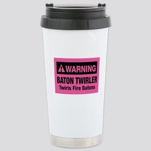 Fire Baton Twirler Stainless Steel Travel Mug