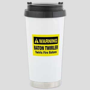 Twirls Fire Batons Stainless Steel Travel Mug