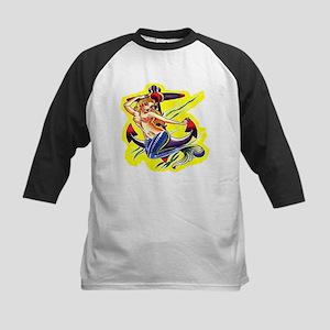 Mermaid & Anchor Old Skool Kids Baseball Jersey