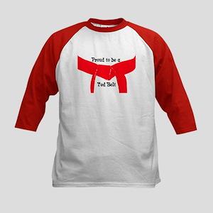 Proud to be a Red Belt Kids Baseball Jersey