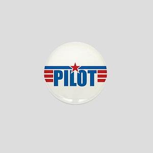 Pilot Aviation Wings Mini Button