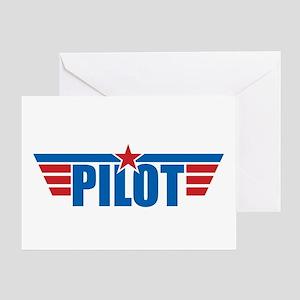 Pilot Aviation Wings Greeting Card